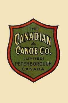 Buckhorn Canoe Company - Builder and Restorer of Traditional Wood . Canadian Canoe, Wood Canoe, Boat Decals, Kayak Boats, Vintage Cabin, Cottage Art, Vintage Logo Design, Vintage Travel Posters, The Ranch