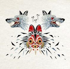 mononoke princess Art Print