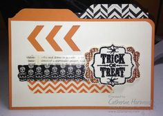 A Halloween File Folder Card Thanks to the Envelope Punch
