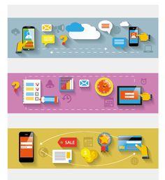 Creative banners web design vector graphics 04 - Vector Banner ...