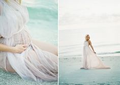 dreamy seaside maternity shoot...I'm sold on the beach thing.