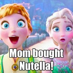 The pure and uncontainable joy. | 17 Pictures Disney And Nutella Lovers Will Think Are Hilarious