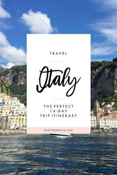14-Day Italy Trip Itinerary - Planning a trip to Italy? Here's the perfect trip itinerary with a combination of relaxation and adventure. Locations include Rome, the Amalfi Coast, Florence, Tuscany, and Cinque Terre.
