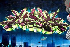 Mek one FX Cru Wall Houston Graffiti 2013 Kingspoint The Mullet by i-seen-it RubenS on Flickr.