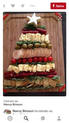 Fancy and Yummy! Fancy and Yummy! The post Christmas Tree appetizer tray! Fancy and Yummy! appeared first on Fingerfood Rezepte. Christmas Party Food, Christmas Brunch, Xmas Food, Christmas Cooking, Christmas Goodies, Christmas Cheese, Christmas Entertaining, Christmas Party Appetizers, Chrismas Food Ideas