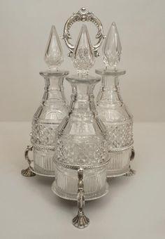English Victorian accessories decanter silver-plate