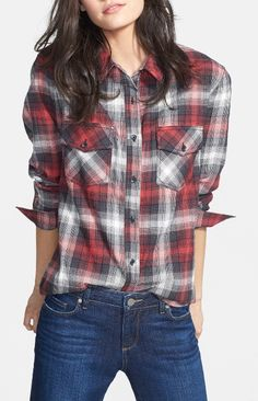 Wardrobe staple: A comfy plaid shirt.