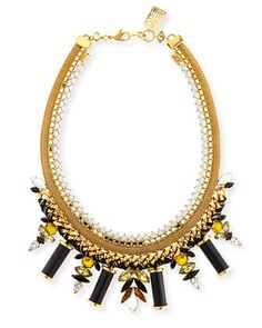 Lagoon+Crystal+Statement+Necklace+by+Lizzie+Fortunato+at+Neiman+Marcus.