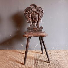 Exceptional Carved Oak Peasant Chair - Folk Art of Europe & Rest of World Hall Chairs, Family Rules, National Art, Antique Chairs, Antlers, Solid Oak, Folk Art, Room Ideas, Rest