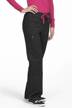 The classic boot cut Layla Tall scrub pant is fun. Five spacious pockets and adjustable ties make for a stylish, functional pant that will fit perfectly with the rest of your wardrobe. Med Couture Scrubs, Medical Scrubs, Scrub Pants, Drawstring Pants, Scrub Tops, Refashion, Elastic Waist, Cute Outfits, Stylish