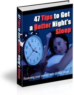 Get A Better Night's Sleep #sleep #insomnia #tips #relax #snooring
