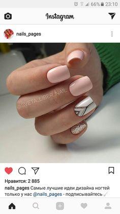 Natural Nail Designs, New Nail Designs, Colorful Nail Designs, Nude Nails, Acrylic Nails, Foil Nails, Nails Tumblr, Glitter Nail Art, Perfect Nails