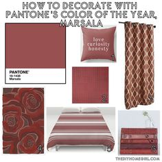 pantone marsala 2015 color of year 18 438 how to decorating tips moodboard paint color