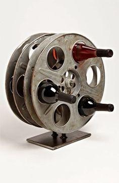 Film-inspired wine rack
