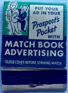 Diamond Matchbook Advertising  #matchbook - To design & order your business' own logo #matches GoTo: GetMatches.com #phillumeny