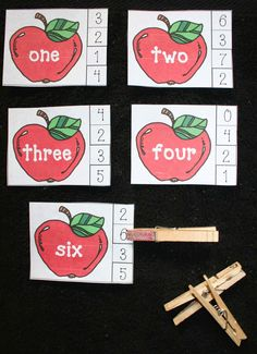 Classroom Freebies: Apple Number Word Matching Game