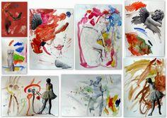 les petites têtes de l'art: Collage et aquarelle inspirés par Beth Hoeckel