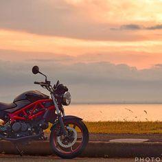 【kenta1250moto】さんのInstagramをピンしています。 《今日も休みだけど雨だからまったりしております。 昨日pic. #バイク#バイクのある風景#朝#朝焼け#海#空#水平線#bj_mycar#蒲郡#ファインダー越しの私の世界#写真好きな人と繋がりたい#ニコン#一眼レフ#Nikon#dslr#camera#D5300 #motorcycle#sea#sky#morning#sunrise#oceanview》