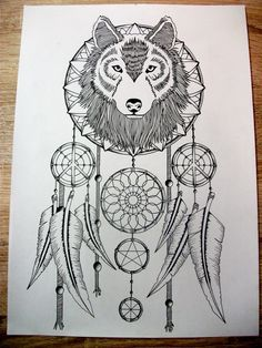 wolf dream catcher. My jaw literally just dropped. This is stunning.