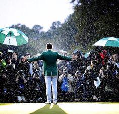 Amazing picture of the 2013 Masters Champion, Adam Scott.