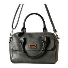 Henley Grey Faye Dome Barrel Bag Discount Designer Handbags, Barrel Bag, Handbag Accessories, Party Supplies, Purses, Grey, Gifts, Shopping, Collection