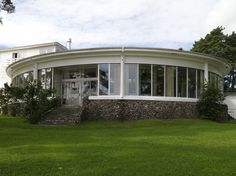 Strand Hotel Fevik, restored functionalism at the beach. Norway Hotel, Functionalism, Leading Hotels, Round House, Future House, Restoration, Restaurant, Mansions, Architecture