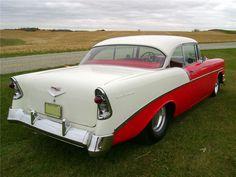 1956 CHEVROLET 210 CUSTOM 2 DOOR HARDTOP - 138408 57 Chevy Bel Air, 1955 Chevy, Chevrolet Bel Air, Chevy Classic, Classic Hot Rod, Classic Cars, Barrett Jackson Auction, Collector Cars, Old Trucks