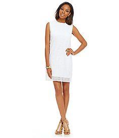 Joan Vass Eyelet Shift Dress #Dillards
