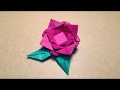 【折り紙(おりがみ)】 簡単なバラ(花びら)の折り方 作り方 - YouTube
