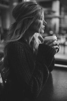 portrait with coffee
