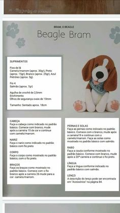 Noticias Amigurumi animal models can find many different kinds of animals, some of the… in 2020 Crochet Dog Patterns, Amigurumi Patterns, Crochet Animals, Crochet Toys, Amigurumi For Beginners, Diy Crafts Crochet, Crochet Disney, Crochet Unicorn, Stuffed Animal Patterns