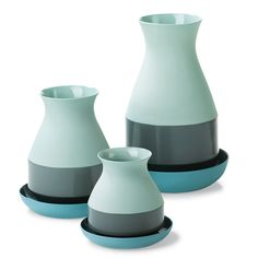Bat Trang Vases  A Dutch designer's trip to Vietnam to learn local craft yielded a series of trim vases made of colored clay.