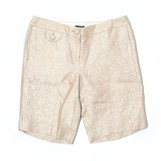 J. Crew Shorts (£15) ❤ liked on Polyvore featuring shorts, gold, j crew shorts and metallic shorts