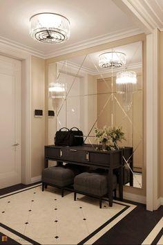 Interior Design Living Room, Living Room Designs, Mirror Decor Living Room, Entrance Hall Decor, Modern Classic Interior, Flur Design, Wardrobe Design Bedroom, Hallway Designs, Luxurious Bedrooms