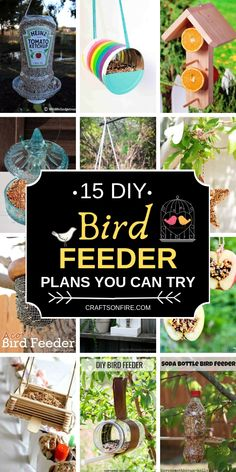 Want to make your own Bird Feeder? Then you have to see these amazing bird feeder plans you can make! They're SO easy! 15 Easy Plans For Your DIY Bird Feeders - Craftsonfire Looks Like Happy lookslikehappy Craft & Create Want to make your own Bird Feeder Craft, Bird Feeder Plans, Bird House Feeder, Diy For Kids, Crafts For Kids, Diy Crafts, Easy Bird, Homemade Bird Feeders, Diy Garden Furniture