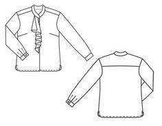Блузка - выкройка № 106 из журнала 11/2011 Burda – выкройки блузок на Burdastyle.ru