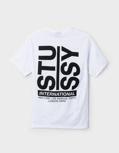 Men's Tees: Graphic Tees & Basic Logo T-Shirts by Stussy Shirt Print Design, Tee Shirt Designs, Tee Design, Online Shopping For Women, Stussy, Apparel Design, Swagg, Printed Shirts, Branded T Shirts