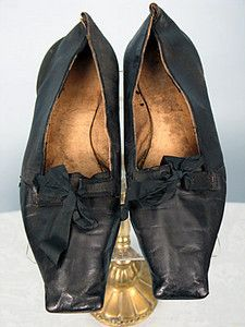 """GENTS EVENING SHOES, AMERICAN, Square toe black leather w/ ribbon-tie latchets & flat leather soles, bottoms inked """"John C Coffing"""" Massachusetts (possibly Wellesley), X tan leather lining Old Shoes, Men's Shoes, Shoe Boots, Dress Shoes, Dress Clothes, Shoes Men, Shoes Style, Mens Dress Outfits, Men Dress"""