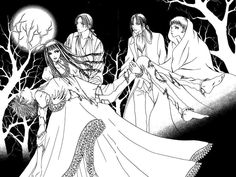 anime wallflower   Sunako is the black-haired girl in the dress. ^^ Kyohei, Yuki, Oda and ...