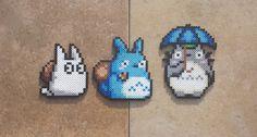 Totoros Studio Ghibli Perler Bead Sprites by MaddogsCreations