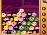 Free Online Puzzle Games, Try to match as many heads as you can before they can reach the top of the screen in Dinky Smash!  Drop each head so it forms a group of 3 or more of the same type to make them explode!  Earn bonuses for big combos that you can trade in for massive powerups!, #dinky #smash #bubble #match #shooter #puzzle