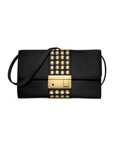 a97f1535f383c Gia Studded Leather Clutch by Michael Kors at Neiman Marcus.