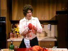 """""""Oh! Oh, now I've done it - I've cut the dickens out of my finger!"""" - Dan Aykroyd as Julia Child"""