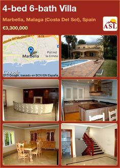 4-bed 6-bath Villa in Marbella, Malaga (Costa Del Sol), Spain ►€3,300,000 #PropertyForSaleInSpain