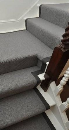A huge selection of carpet, stair runners, stair rods, carpet bindings, carpet thresholds and entrance matting is available in our London Showroom. Trendy Furniture, Couch Furniture, Furniture Ideas, Carpet Staircase, Staircase Ideas, Hall Carpet, Hallway Ideas, English Cottage Interiors, House Architecture Styles