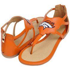 Women's Denver Broncos Cuce Orange Gladiator Sandals
