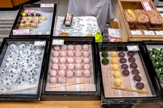 Mochi are cakes made from glutinous rice that is cooked pounded into a paste and then moulded. #Japan #japanese #food