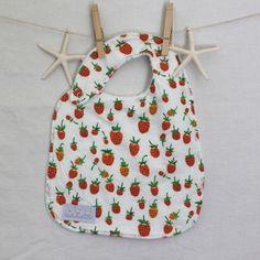 Orange Strawberry Bib | Fun Little Things