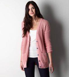 Pink AEO Open Knit Cardigan (inspiration)