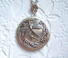 Antiqued silver mother and baby dragonfly by MarilynsNewVintage, $25.75